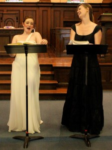 Maureen Batt and Rachel Cleland (Marcellina)
